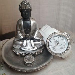 {Ice Watch} White Ice Watch With Swarovski Crystal